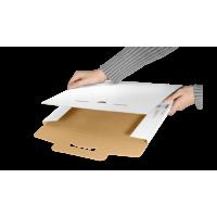 Ploché poštové krabice, biele